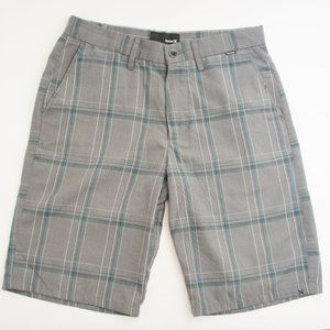 Hurley Gray Plaid Shorts